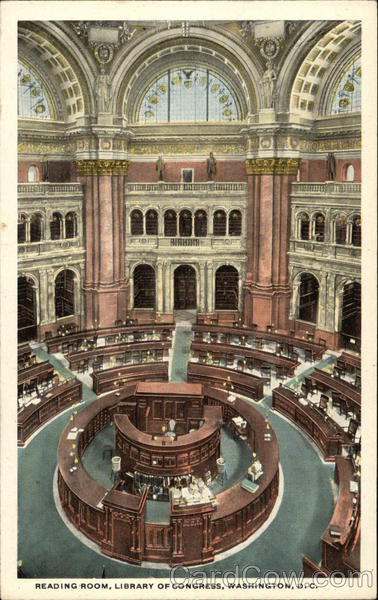 Reading Room, Library of Congress Washington District of Columbia