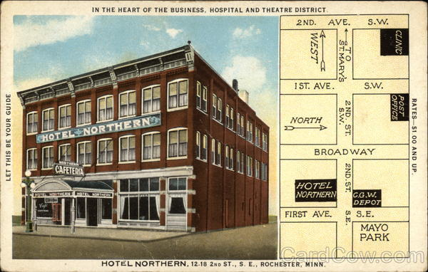 Hotel Northern, 12-18 2nd St., S.E Rochester Minnesota
