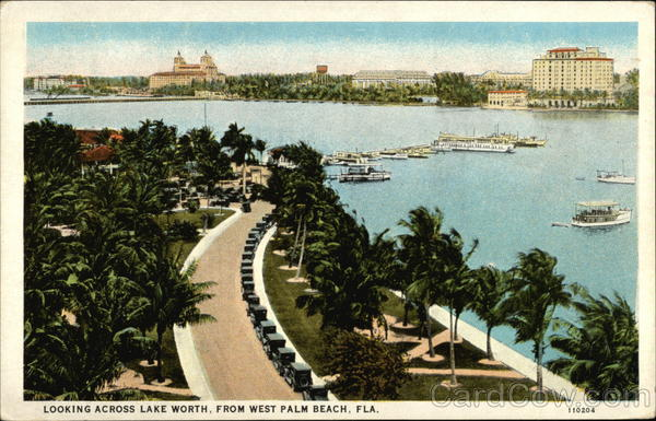 Looking across Lake Worth West Palm Beach Florida