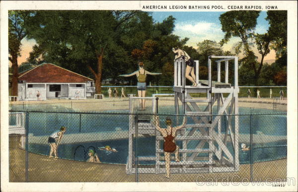 American Legion Bathing Pool Cedar Rapids Iowa