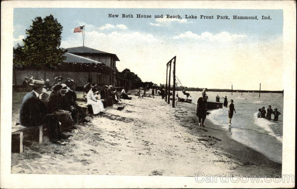 Lake Front Park - New Bath House and Beach Hammond Indiana