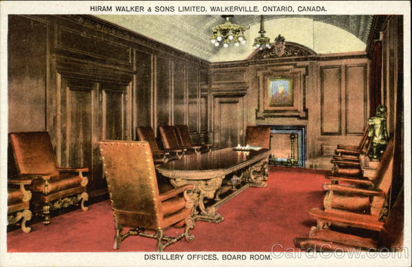 Distillery Offices, Board Room, Hiram Walker & Sons Limited Walkerville Canada