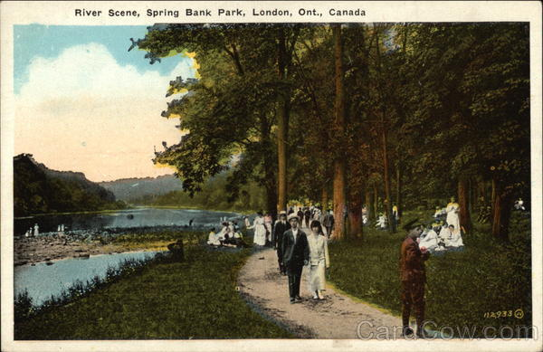 River Scene, Spring Bank Park London Canada Ontario
