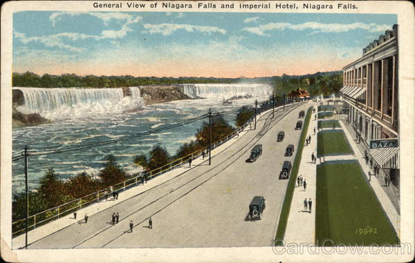 General View of Niagara Falls and Imperial Hotel New York