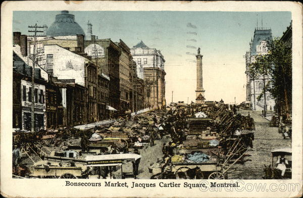 Bonsecours Market, Jacques Cartier Square Montreal Canada
