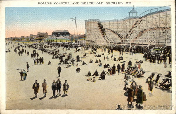Roller Coaster and Beach Old Orchard Beach Maine