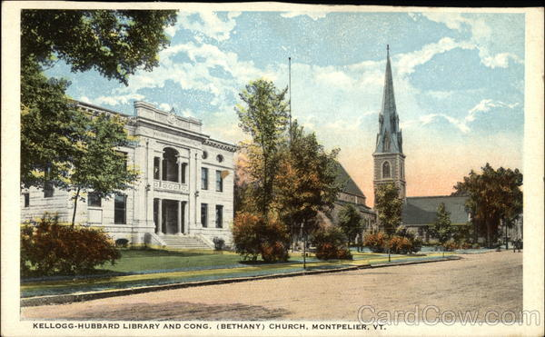 Kellogg-Hubbard Library and Cong. (Bethany) Church Montpelier Vermont