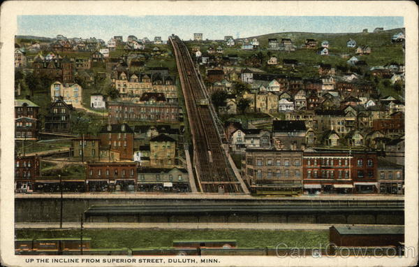 Up the Incline from Superior Street Duluth Minnesota