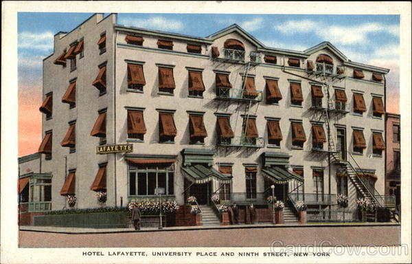 Hotel Lafayette, University Place and Ninth Street New York