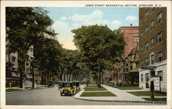 James Street Residential Section Syracuse New York