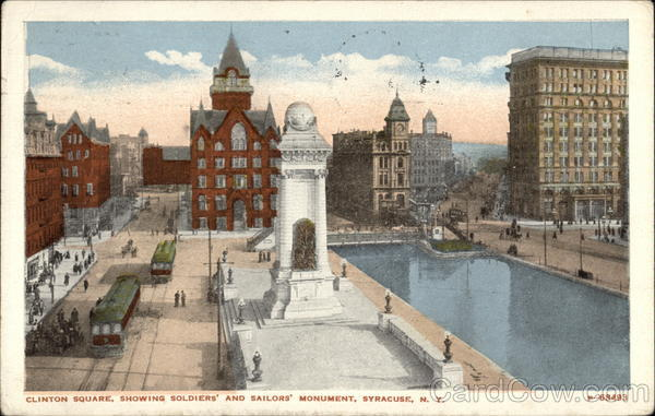 Clinton Square showing Soldiers and Sailors Monument Syracuse New York
