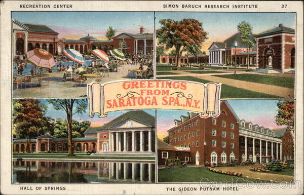 Greetings from Saratoga Spa Saratoga Springs New York