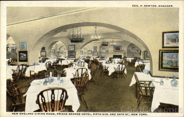 Prince George Hotel - New England Dining Room New York