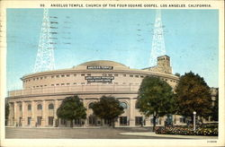 Angelus Temple, Church of the Four Square Gospel Postcard
