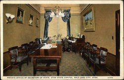 Private Office of the Secretary of State, Utah State Capitol