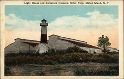 Light House and Aeroplane Hangars, Miller Field