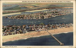 Balboa and Balboa Island, showing Ocean and Bay