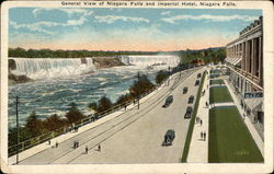 General View of Niagara Falls and Imperial Hotel