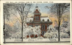 City Hall and Central Park in Winter