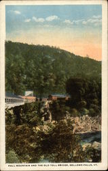 Fall Mountains and the Old Toll Bridge
