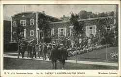 Modern Woodmen of America Sanatorium - Patients Assembling for Dinner
