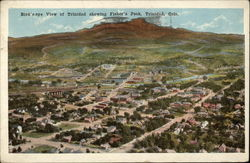 Bird's-Eye View of Town, showing Fisher's Peak
