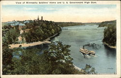 View of Minnesota Soldiers' Home and U.S. Government High Dam