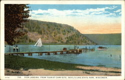 Pier Landing, From Tourist Campsite, Devil's Lake State Park
