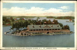 Yacht Club, St. Lawrence River Postcard