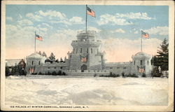 Ice Palace at Winter Carnival Postcard