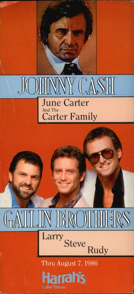Johnny Cash, June Carter and the Carter Family Lake Tahoe Nevada