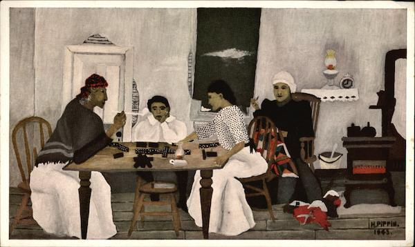 Domino Players by Horace Pippin Art