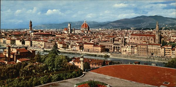 View of City Florence Italy