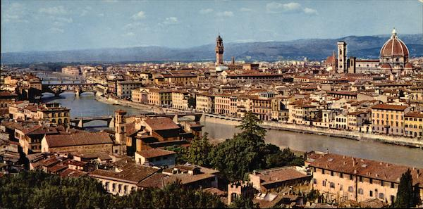 Panoramic View of City Florence Italy