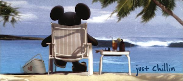 Just Chillin with Mickey Mouse on Beach Disney