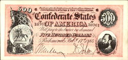 Confederate Currency Post Card