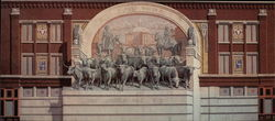 Chisholm Trail, Trompe L'Oeil Painting in Sundance Square Large Format Postcard