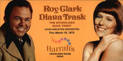 Roy Clark, Diana Trask, The Spurrlows, Buck Trent, John Carelton Orchestra
