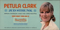 Petula Clark, Jud Strunk, Brian Farnon and his Orchestra Large Format Postcard