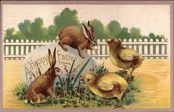 A Happy Easter with Bunnies & Chicks