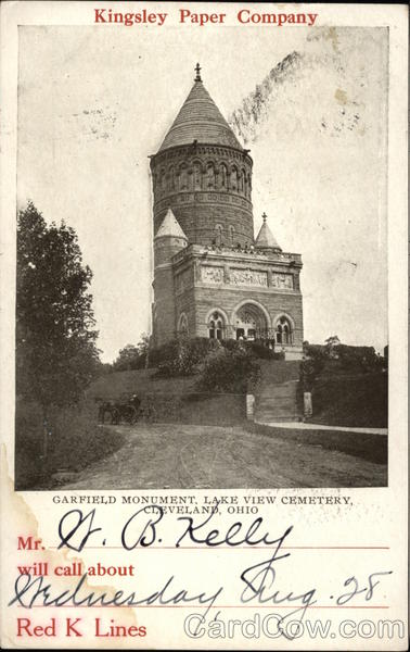 Kingsley Paper Company, Garfield Monument, Lake View Cemetery Cleveland Ohio