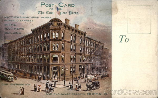 Post Card From The Commerce Press Advertising