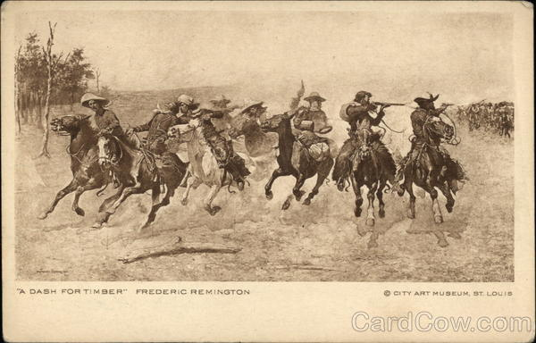 A Dash for Timber by Frederic Remington Cowboy Western