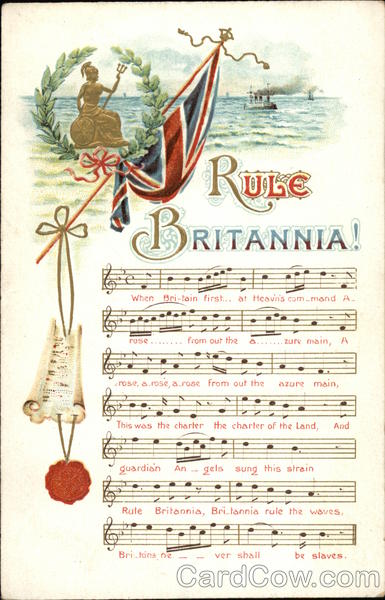 rule britannia flag songs lyrics