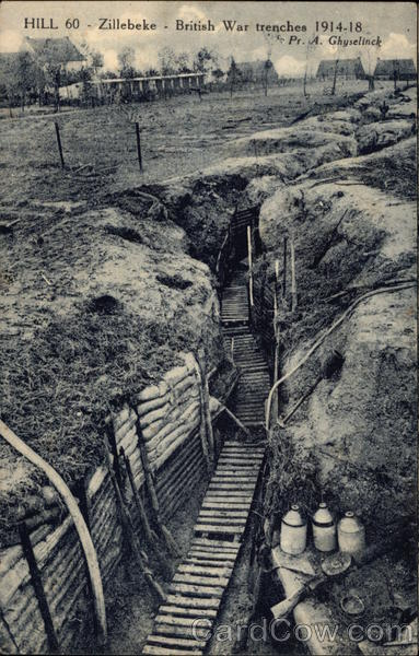 hill 60  zillebeke  british war trenches 1914