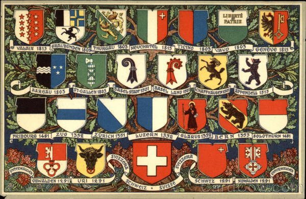 Coats of Arms of Switzerland