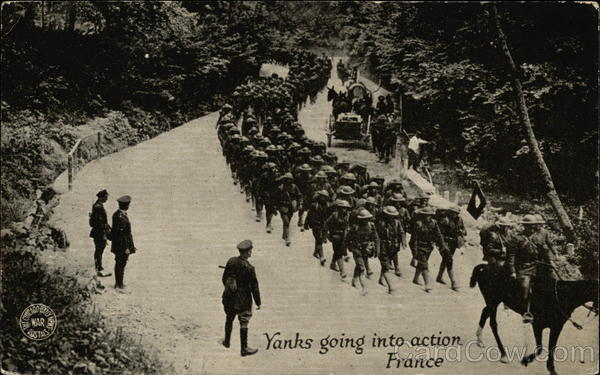 Yanks Going into Action, France Military