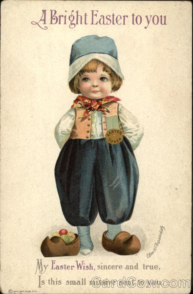 A Bright Easter to You with Dutch Boy Ellen Clapsaddle