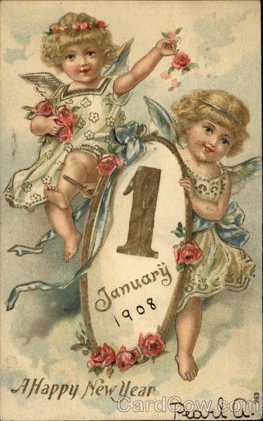 A Happy New Year - January 1, 1908 Year Dates