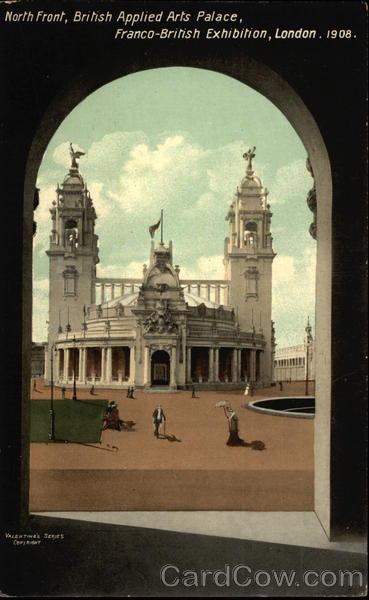North Front, British Applied Arts Palace, Franco-British Exhibition, London, 1908